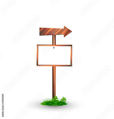 Wooden signs illustration