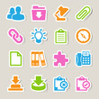 Office sticker icons set.