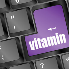 vitamin word on computer keyboard pc