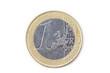 1 Euro - auf weiß isoliert