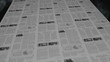 Breaking news out of a newspaper printing press