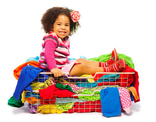 Black girl in fashion basket