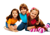 Small group of little kids poster