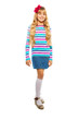 Full height portrait of blond 10 years old girl