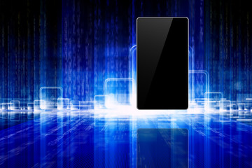 Abstract tablet, smartphone