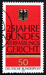 Postage stamp Germany 1976 German Eagle