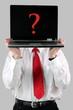 Laptop mit Fragezeichen