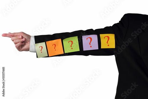 Wegweiser mit Fragezeichen