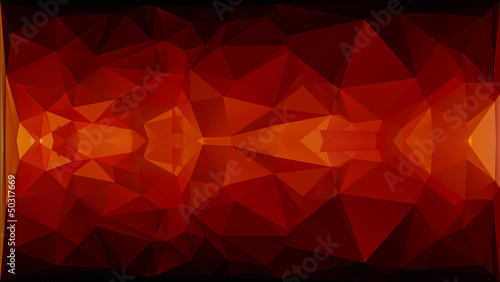 Abstract red, orange and yellow rectangle shapes background.
