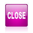 close violet square web glossy icon