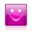 cry violet square web glossy icon