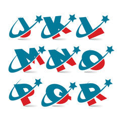 Swoosh Patriotic Alphabet Set 2