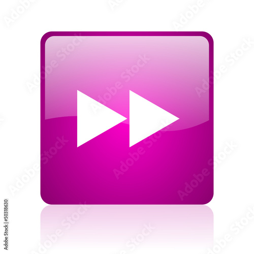 scroll violet square web glossy icon