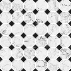 Black and white mosaic marble texture.(High.Res.)