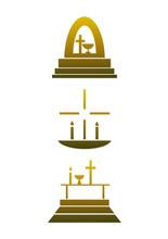Symbol-Set: Religion / Christentum / Kirche