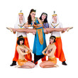 acrobatic dance team perform stunt
