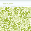 Vector green underwater seaweed horizontal torn seamless pattern