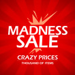 Madness sale design template.