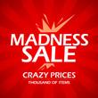 Madness sale design template.