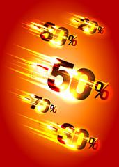 Meteor rain discounts.
