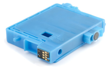Blue ink printer cartridge