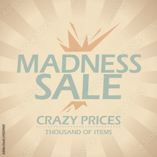 Madness sale banner.