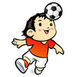 Soccer players mascot ball stunts Beak. Sports Character Design