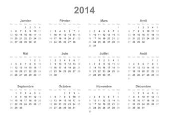 French calendar 2014