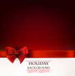 Elegant holiday background with red bow and space for text. Vect