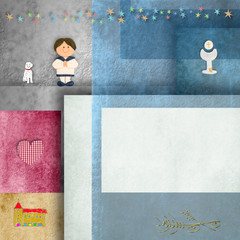 Holy communion invitations,sailor boy, frame for photo or text