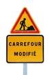 Carrefour en travaux