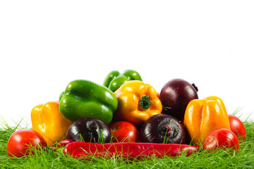 Healthy Eating. Seasonal organic raw vegetables.