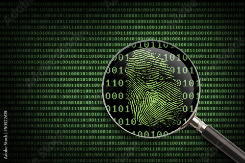 Magnifying Glass Online Fingerprint