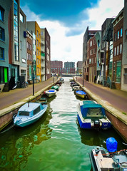 Lamong Canal in Amsterdam