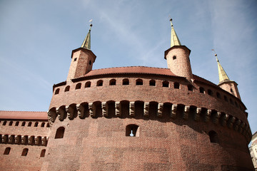 Brama Florianska, gate of the medieval Krakow
