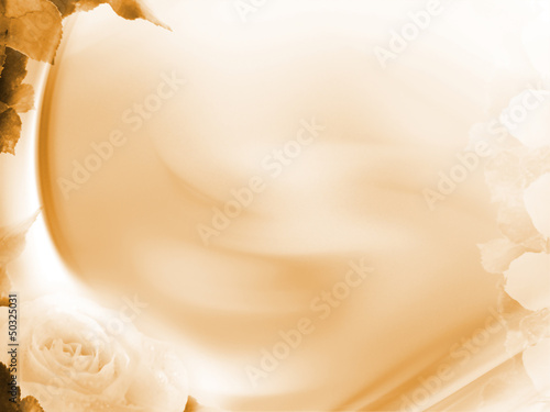 Elegant gentle rose and beige wave