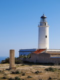 Lighthouse far de la Mola, Formentera, Balearic Islands, Spain poster