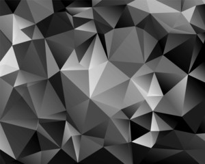 Abstract monochrome background polygon