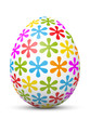 Osterei, Ostern, Ei, Blumen, Blümchen, bunt, farbig, Design, 3D