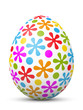 Osterei, Ostern, Ei, Blumen, Punkte, bunt, farbig, Design, 3D