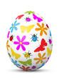 Osterei, Ostern, Ei, Blumen, Schmetterling, Marienkäfer bunt, 3D