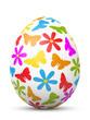 Osterei, Ostern, Ei, Blumen, Schmetterling, bunt, Dekoration, 3D