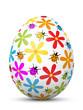 Osterei, Ostern, Ei, Blumen, Marienkäfer, bunt, Dekoration, 3D