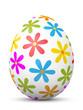Osterei, Ostern, Ei, Blumen, Blümchen, bunt, Dekoration, 3D