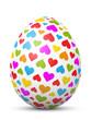 Osterei, Ostern, Ei, Herzchen, Herz, Liebe, verliebt, Deko, 3D