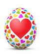 Osterei, Ostern, Ei, Herz, Liebe, verliebt, Deko, Symbol, 3D