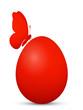 Osterei, Ostern, Ei, Schmetterling, einfarbig, schlicht, Rot, 3D