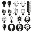 Light bulbs. Vector bulb icon set