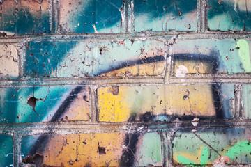 Graffiti on wall, background.