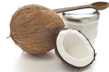 Coconut and organic coconut oil